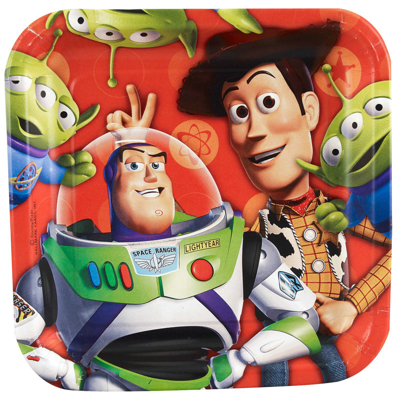 Toy Story 3 - 3D Dessert Plates (8 count)