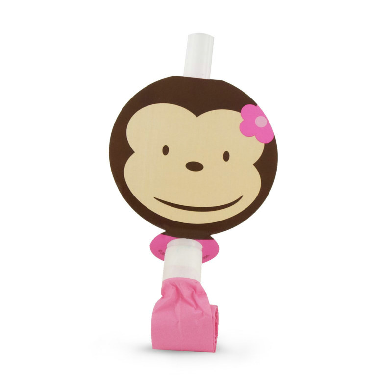 Pink Mod Monkey Blowouts (8 count)