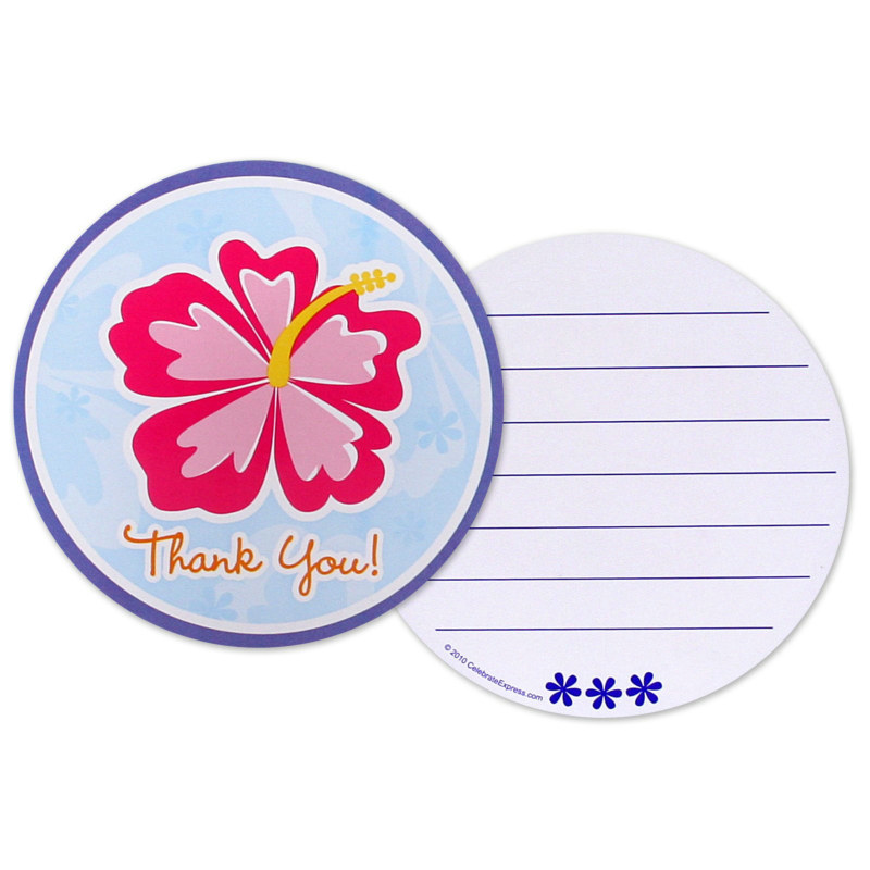Hawaiian Girl Thank You Cards (8 count)
