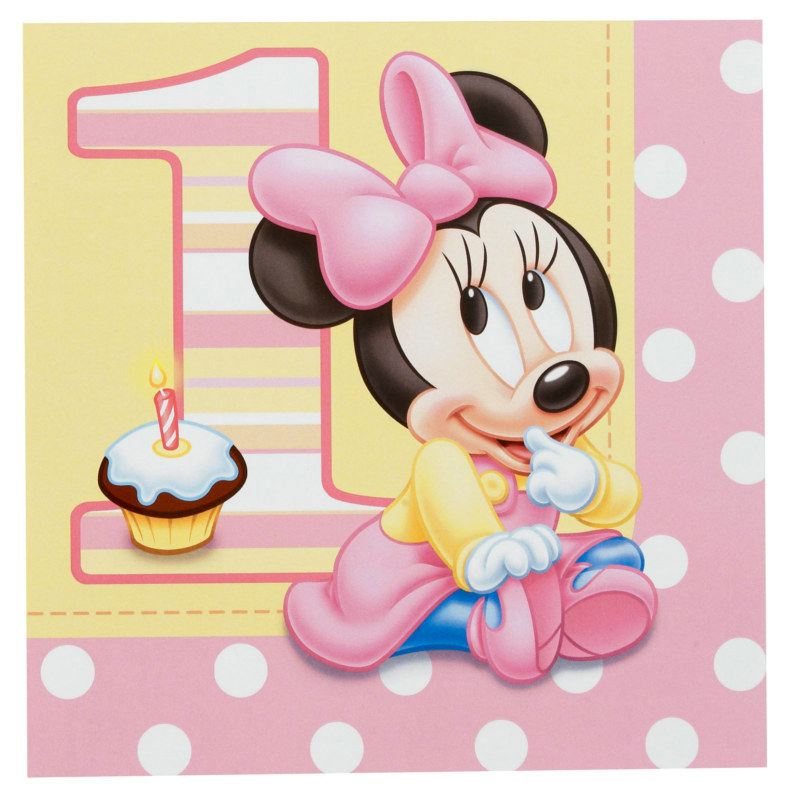 Minnie's 1st Birthday Lunch Napkins (16 count)