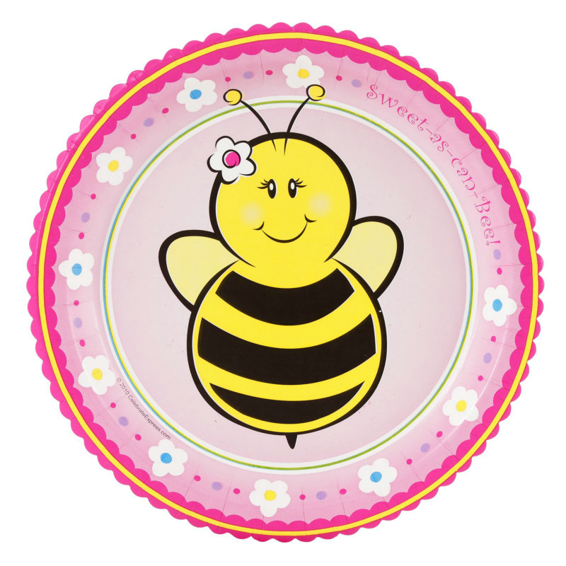 Sweet-As-Can-Bee Dessert Plates (8 count)