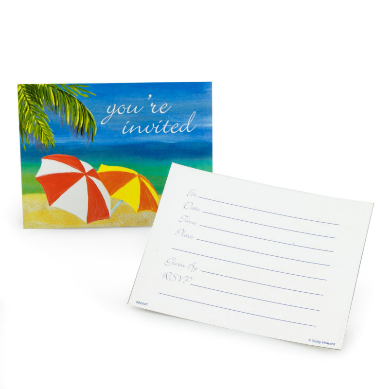 Tropical Vacation Invitations (8 count)