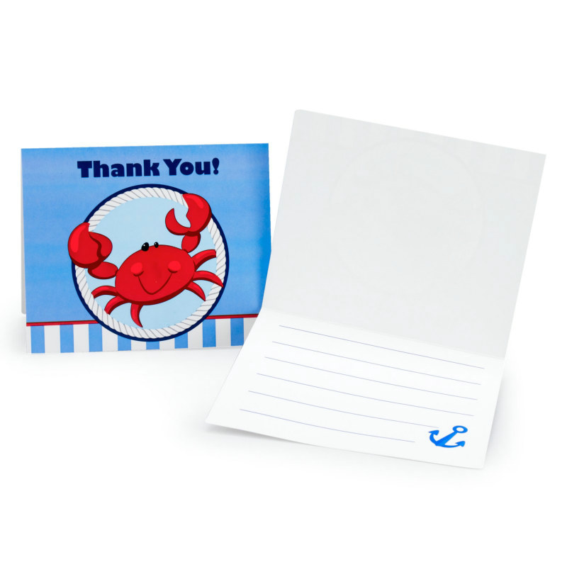 Anchors Aweigh Thank You Cards (8 count)