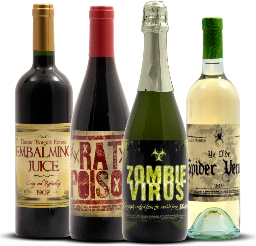 Halloween Wine Bottle Stickers (8 count)