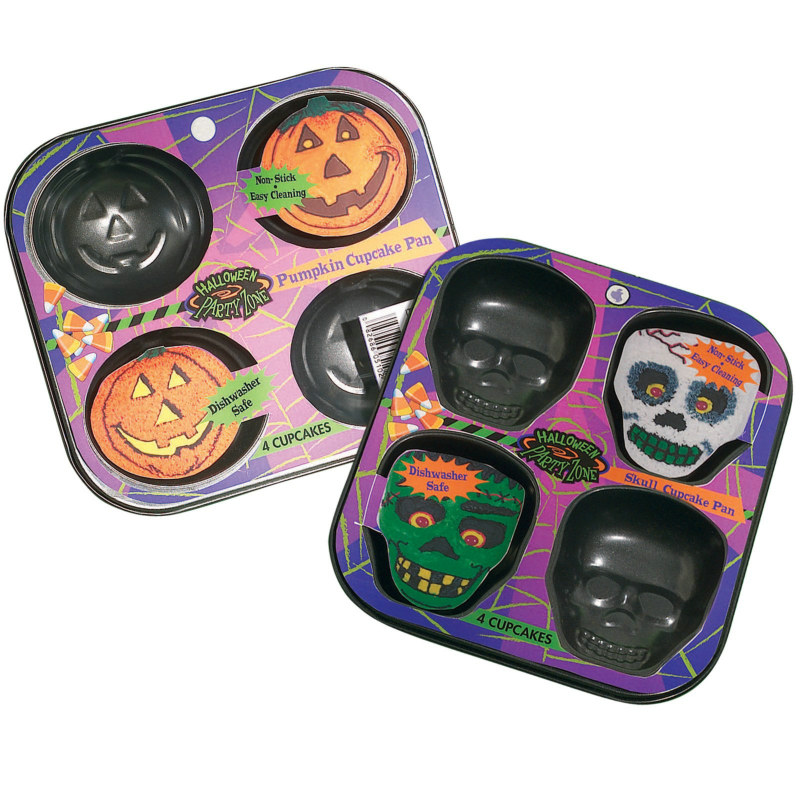 Pumpkin and Skull Cupcake Pan Kit