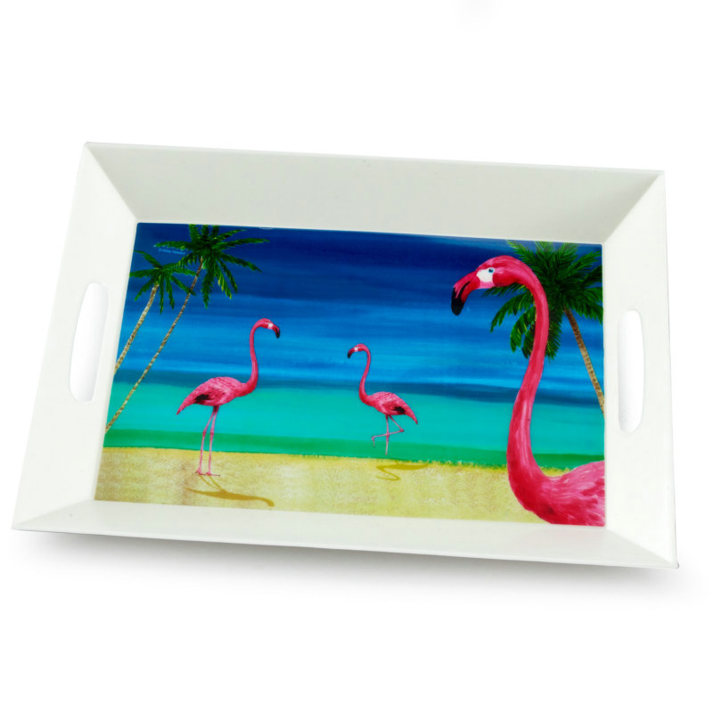 "14"" Tropical Vacation Serving Tray"