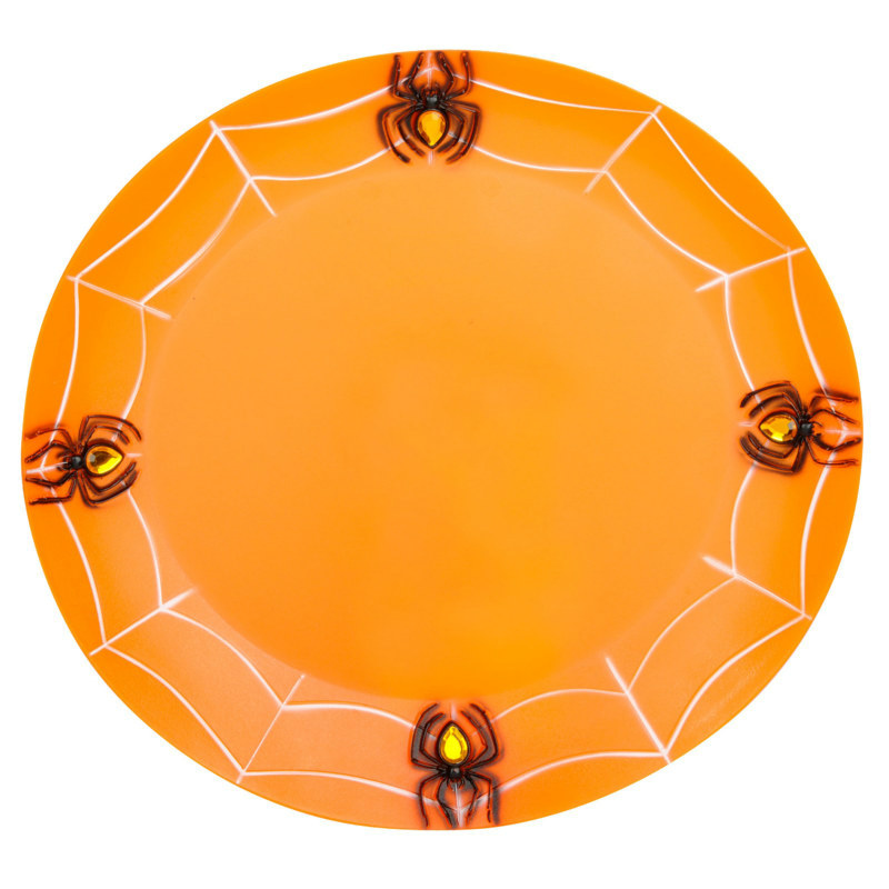 Orange Spiderweb Tray