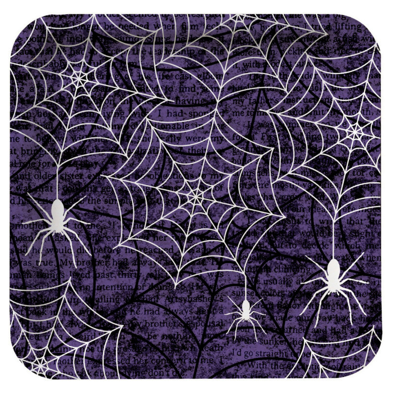 Creepy Webs Square Dessert Plates (8 count)