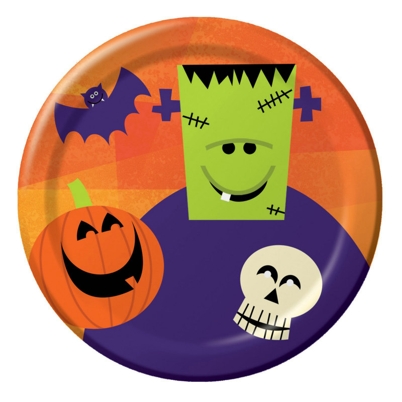 Halloween Fun Friends Dessert Plates (8 count)