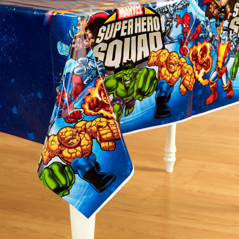 Marvel Super Hero Squad Plastic Tablecover