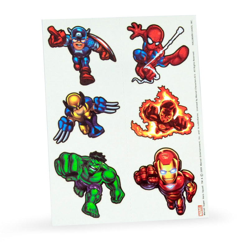 Marvel Super Hero Squad Tattoos (2 count)