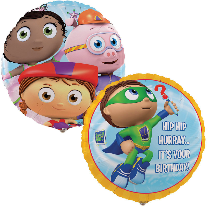 "Super Why! 18"" Foil Balloon"