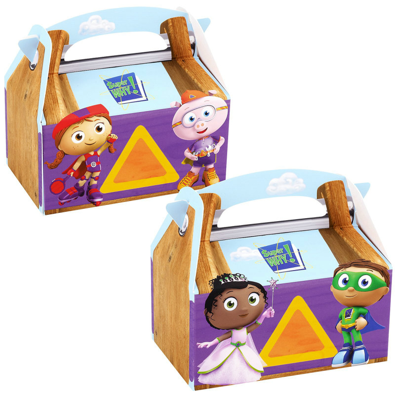 Super Why! Empty Favor Boxes (4 count)