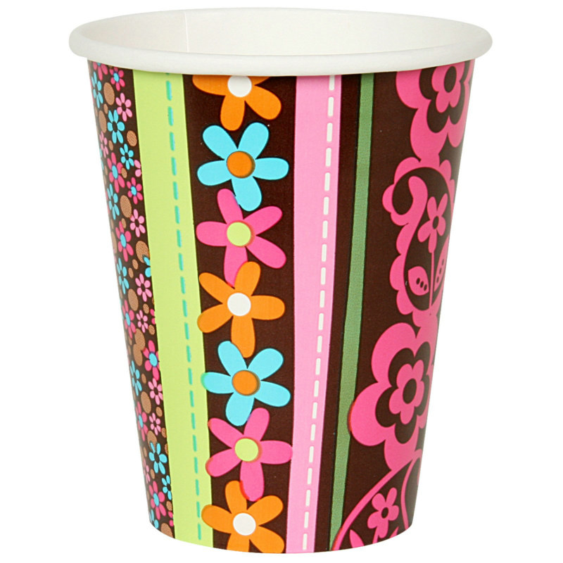 Hippie Chick 9 oz. Paper Cups (8 count)