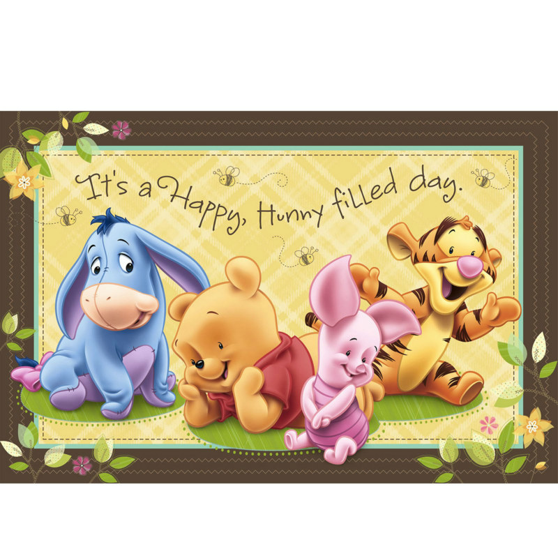 Baby Pooh and Friends Wall Mural