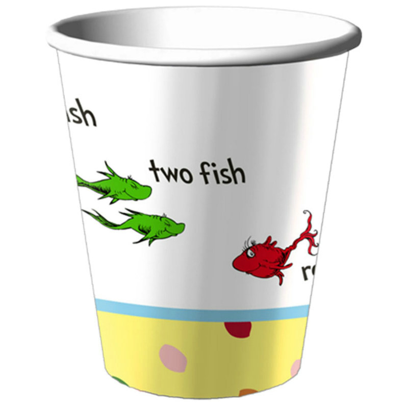 Baby Seuss 9 oz. Paper Cups (8 count)