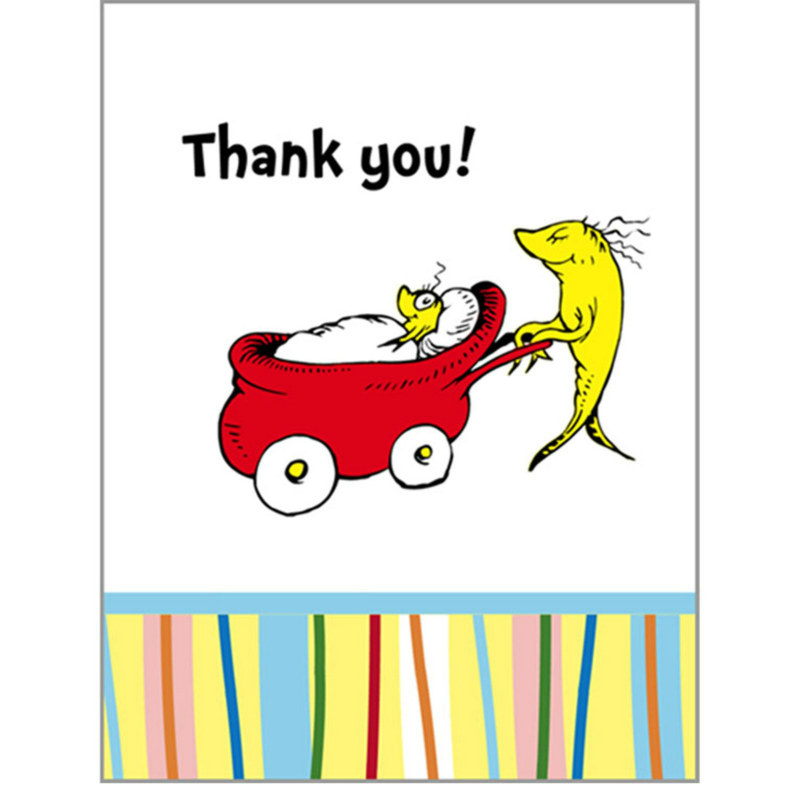Baby Seuss Thank You Cards (8 count) - Click Image to Close