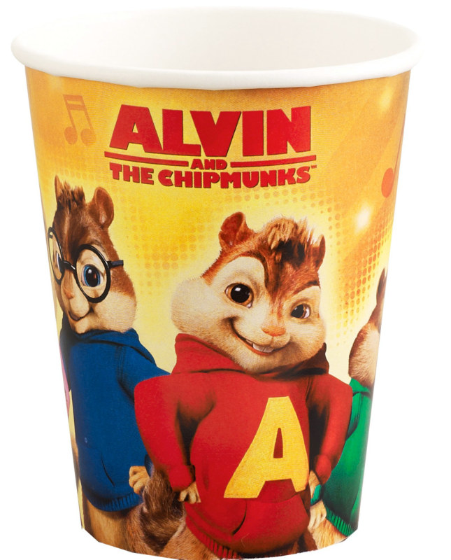 Alvin and the Chipmunks 9 oz. Paper Cups (8)