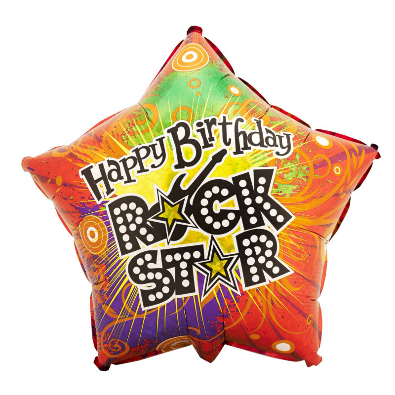 "Rock Star 18"" Foil Balloon"