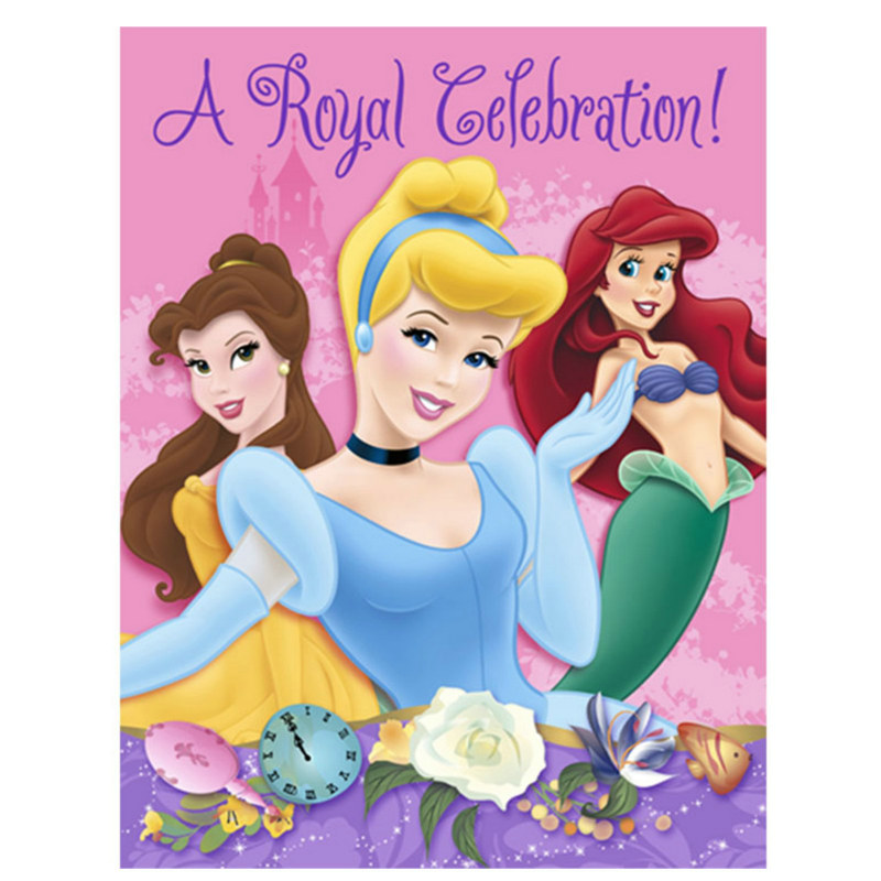 Disney Princess Dreams Invitations (8 count)