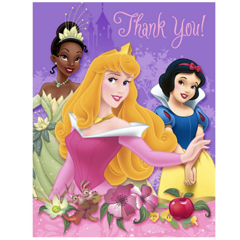 Disney Princess Dreams Thank You Cards (8 count)
