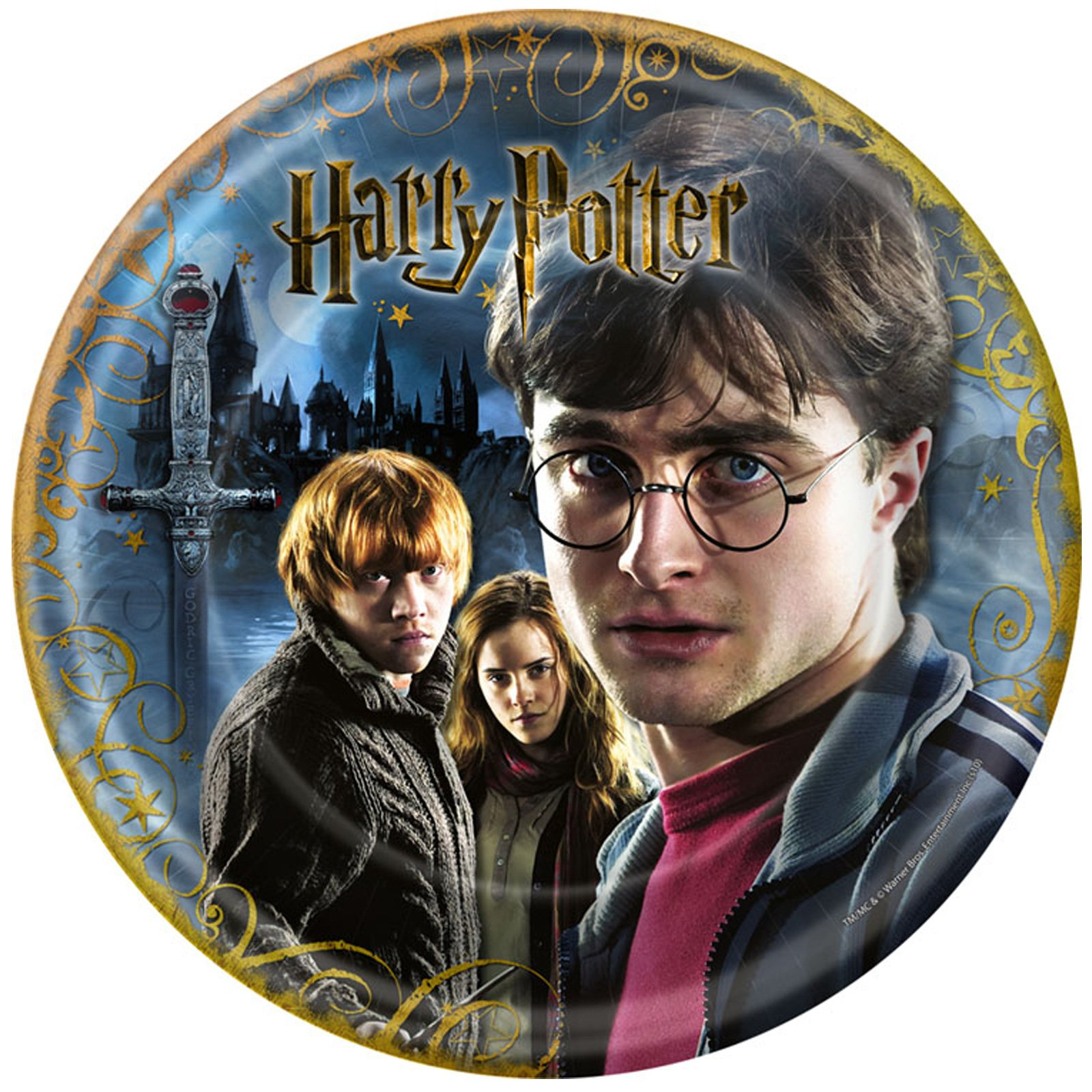 Harry Potter Deathly Hallows Dinner Plates (8 count)