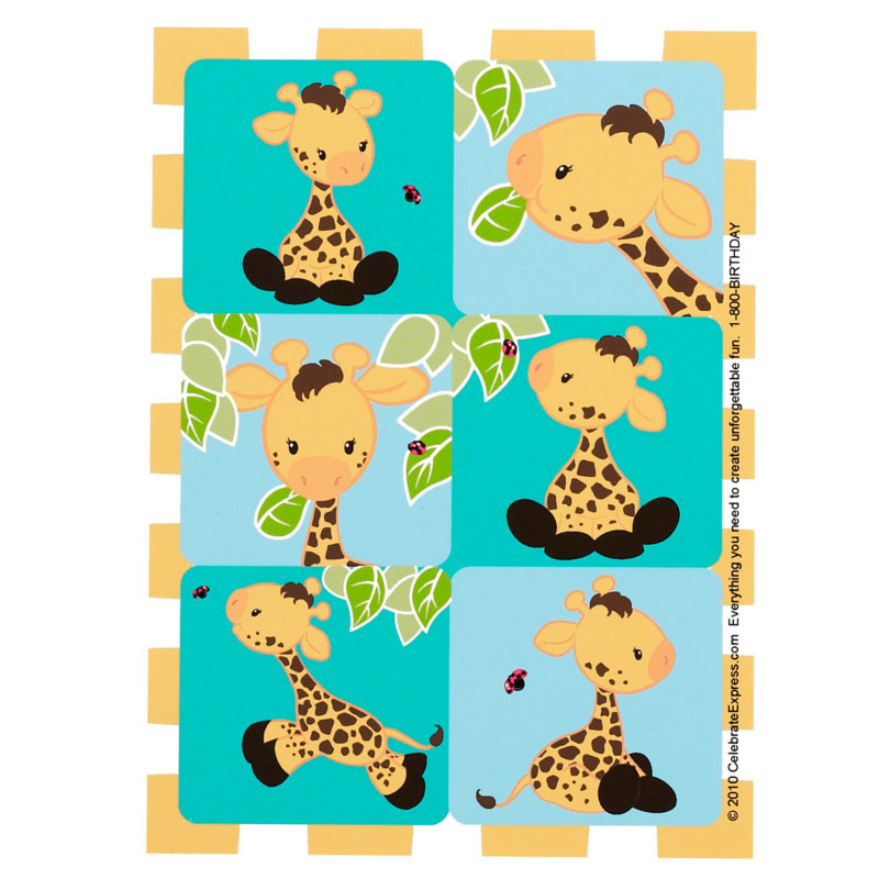 Giraffe Stickers (4 sheets)