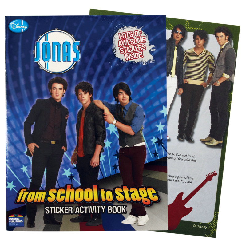 JONAS 'From School to Stage' Sticker Activity Book (1 count)