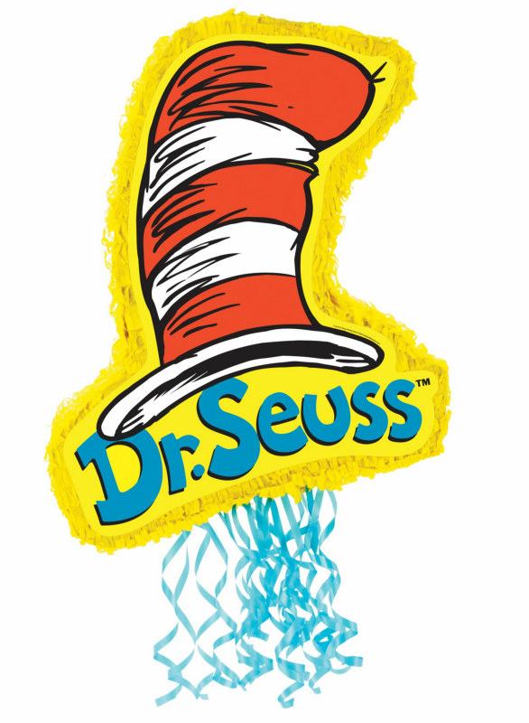 "Dr. Seuss 21"" Cat In The Hat Pull-String Pinata"