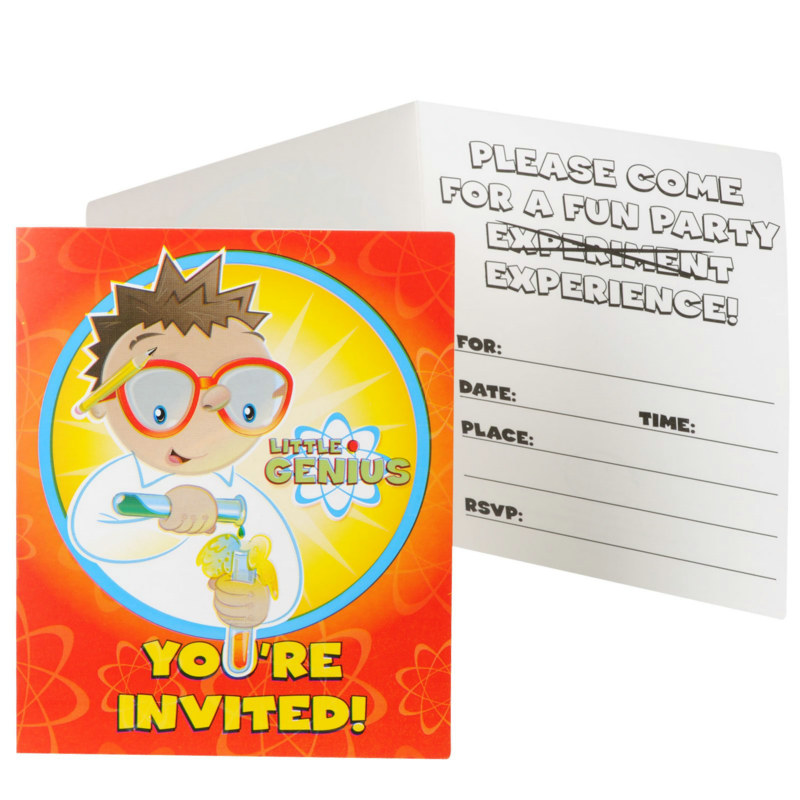 Little Genius Invitations (8 count)