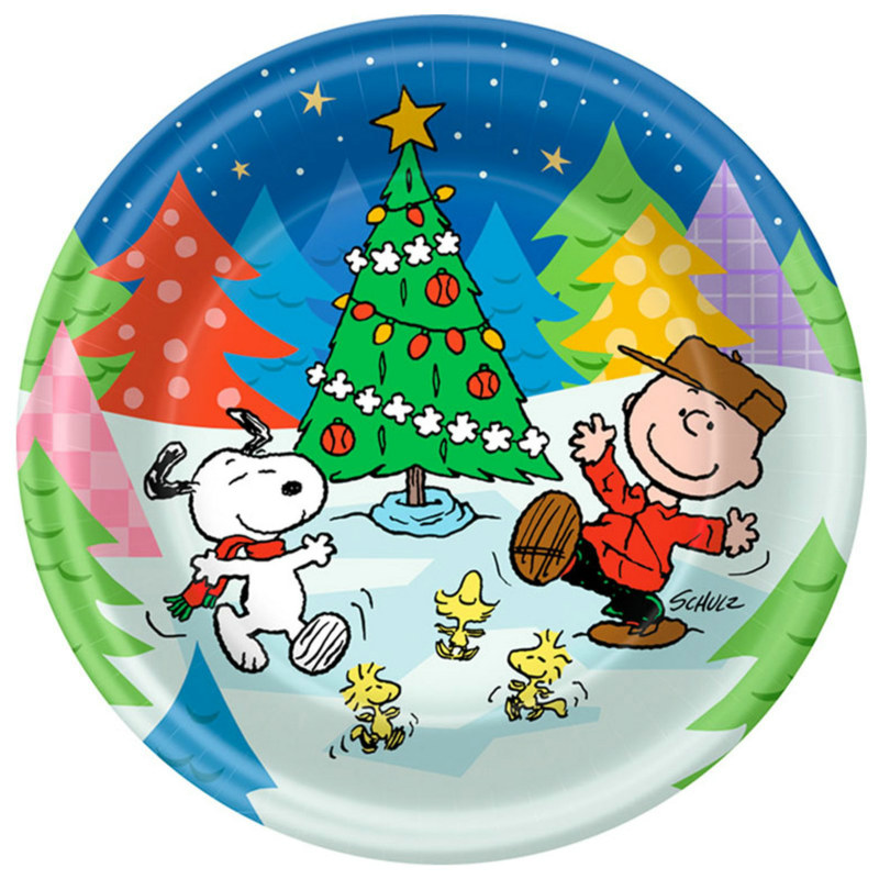 Peanuts Christmas Dessert Plates (8 count)