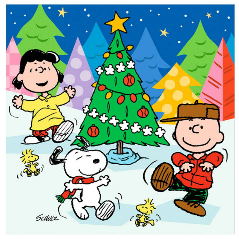 Peanuts Christmas Lunch Napkins (16 count) - Click Image to Close