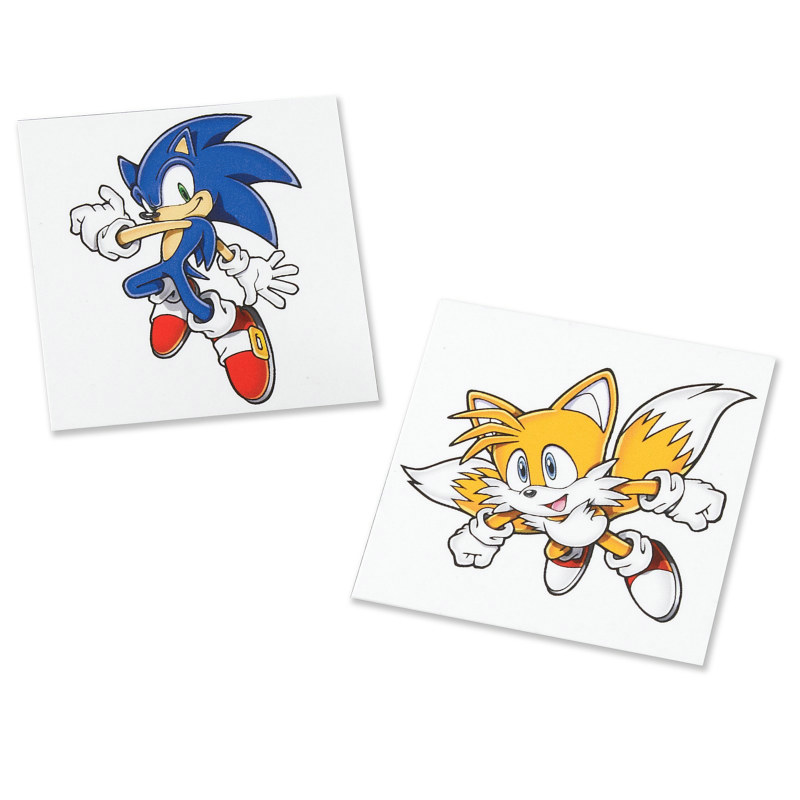 Sonic the Hedgehog Tattoos (8 count)