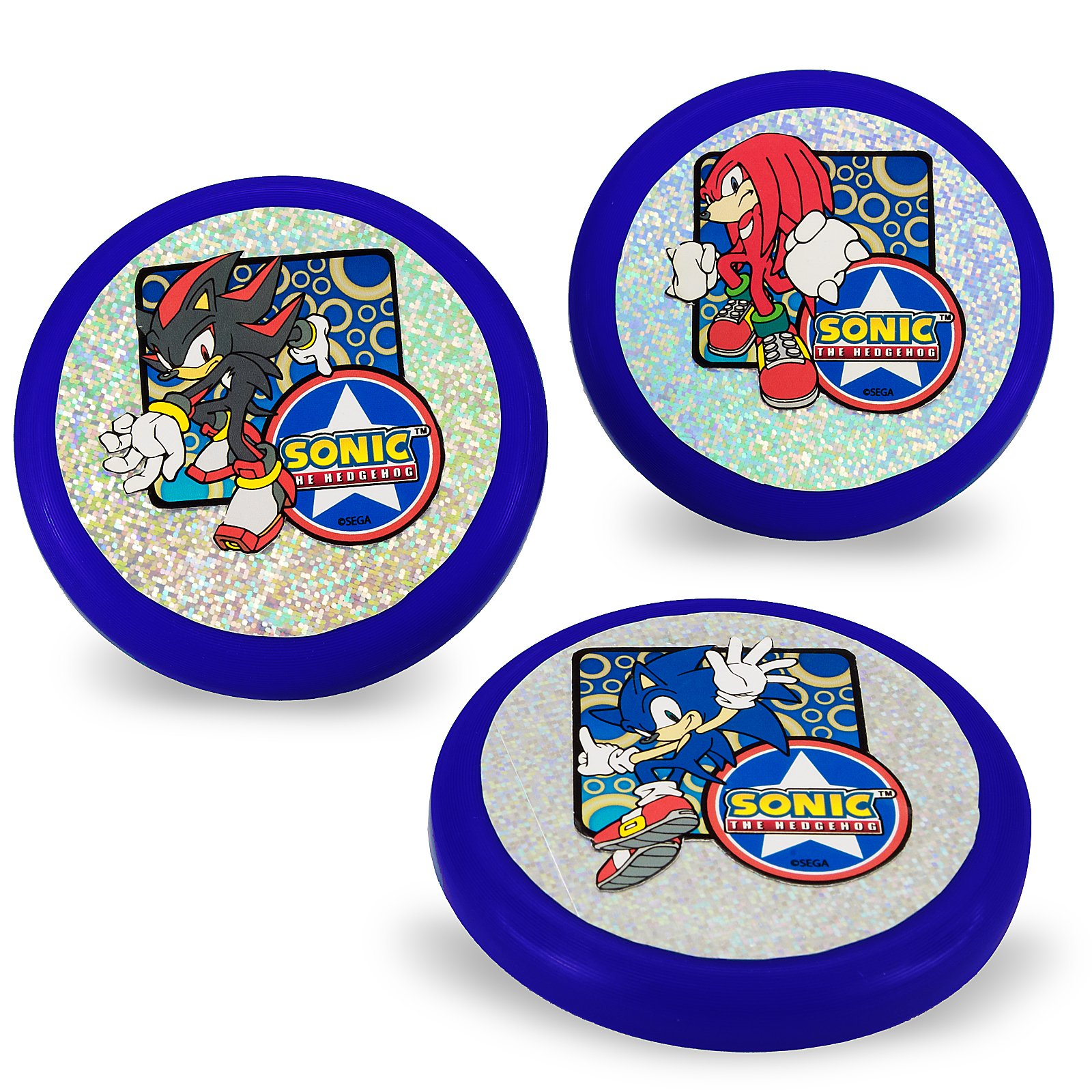 "Sonic the Hedgehog 3.5"" Flying Discs (3 count)"