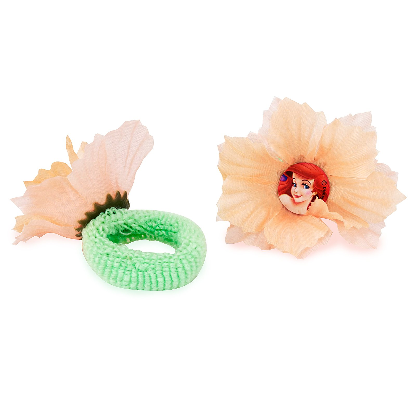 Little Mermaid Flower Hair Terries (4 count)
