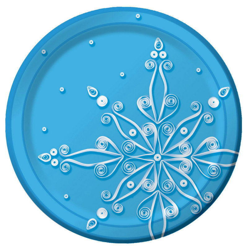 Snow Flurry Dessert Plates (8 count)