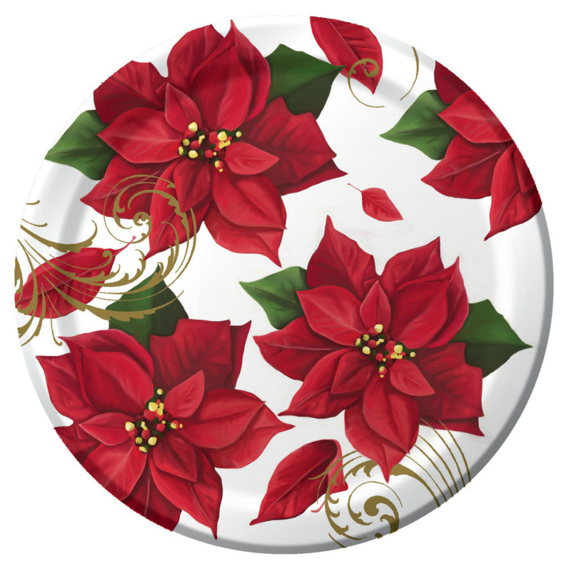 Poinsettia Breeze Dinner Plates (8 count)