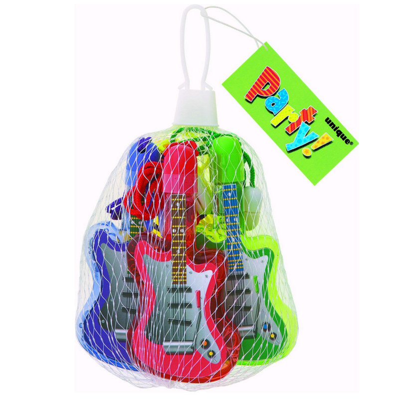Bubble Guitar Necklaces Assorted (4 count)
