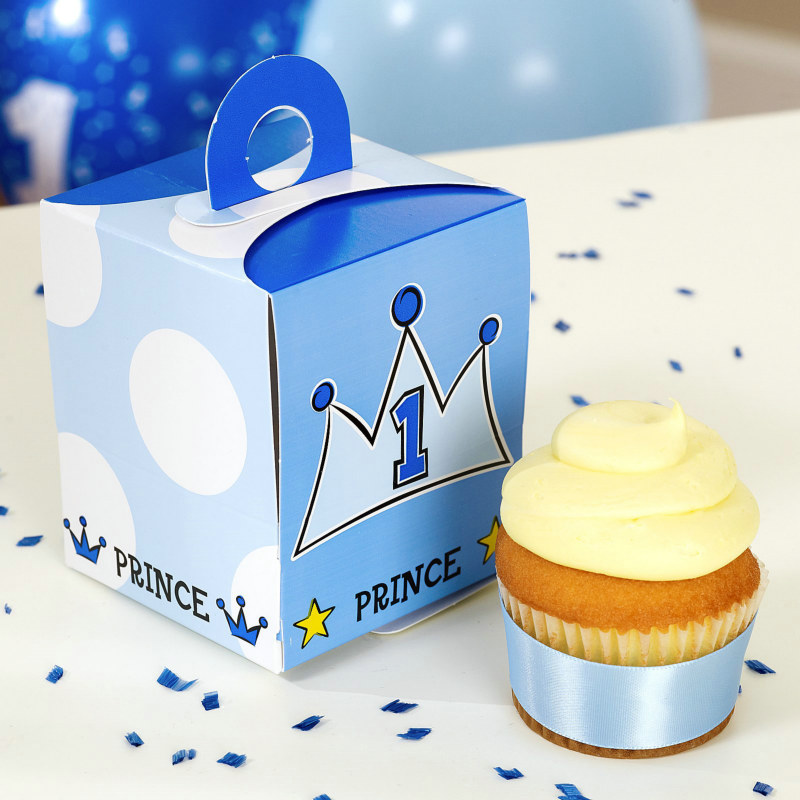 Prince Cupcake Boxes (4 count)