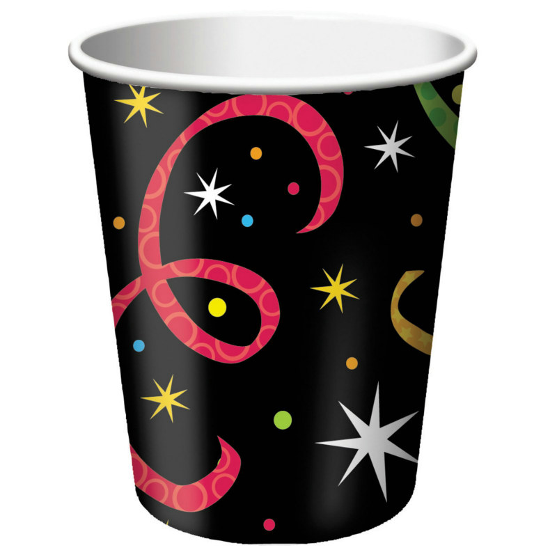 New Year Jazz 9 oz. Paper Cups (8 count)