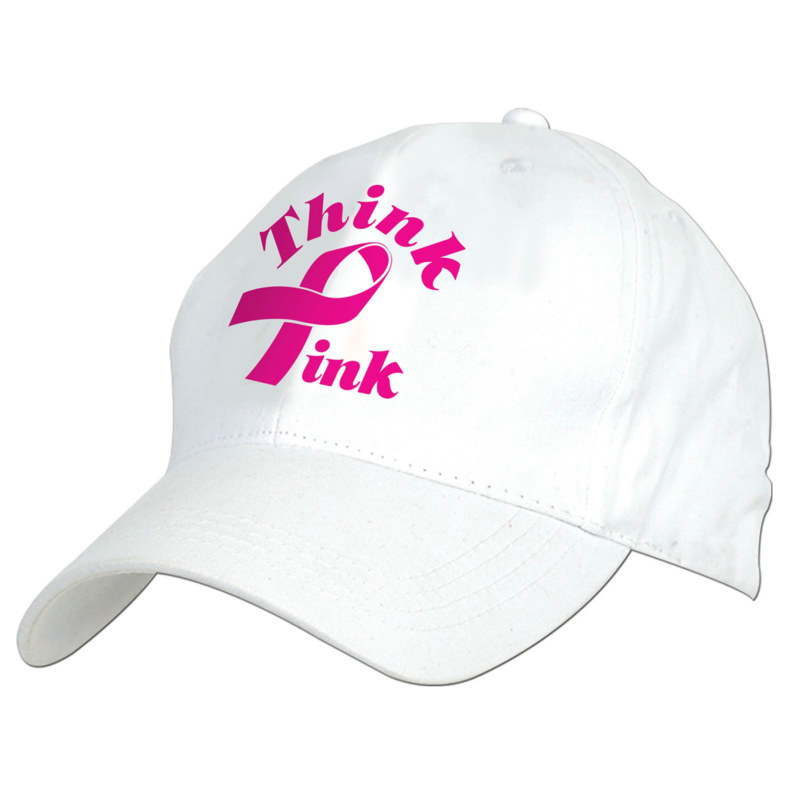 Embroidered Think Pink Cap