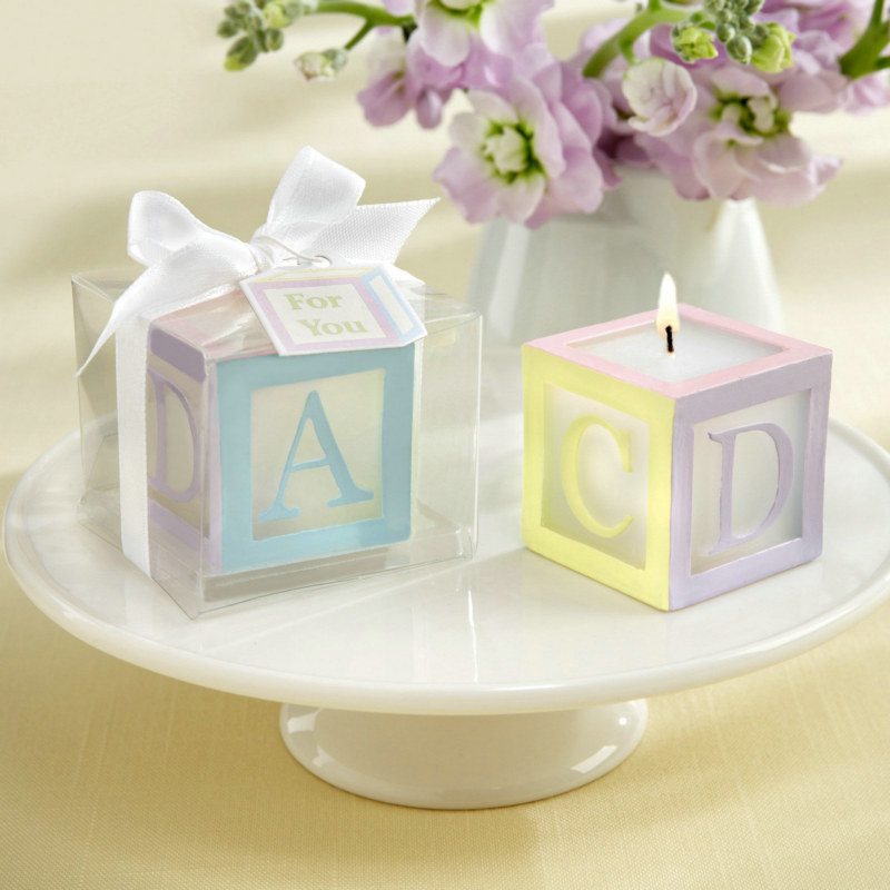 Baby Block Candles (4 count)