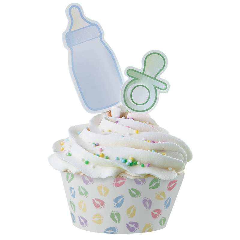 Baby Feet Cupcake Wraps and Picks