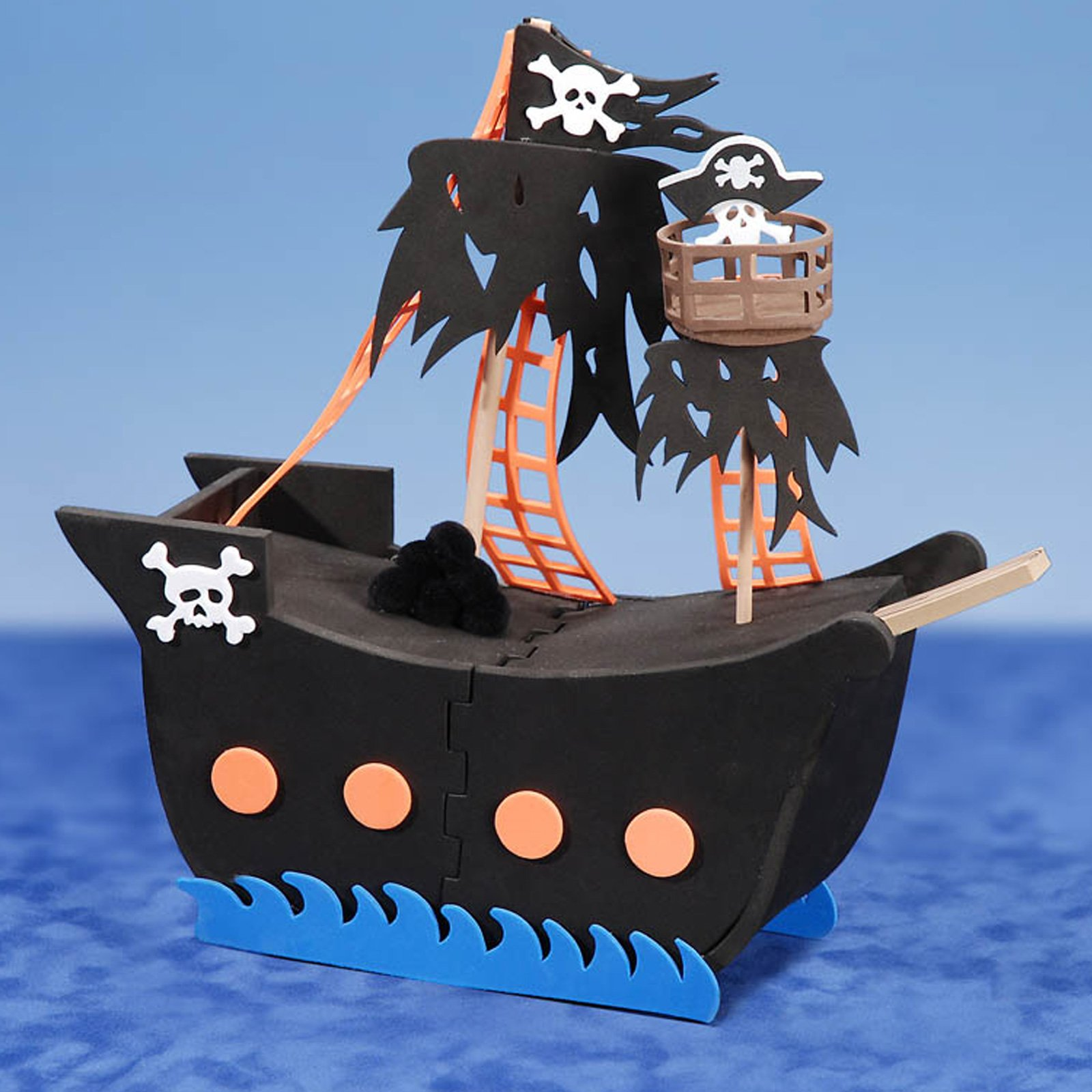 Foam Pirate Ship 3-D Activity
