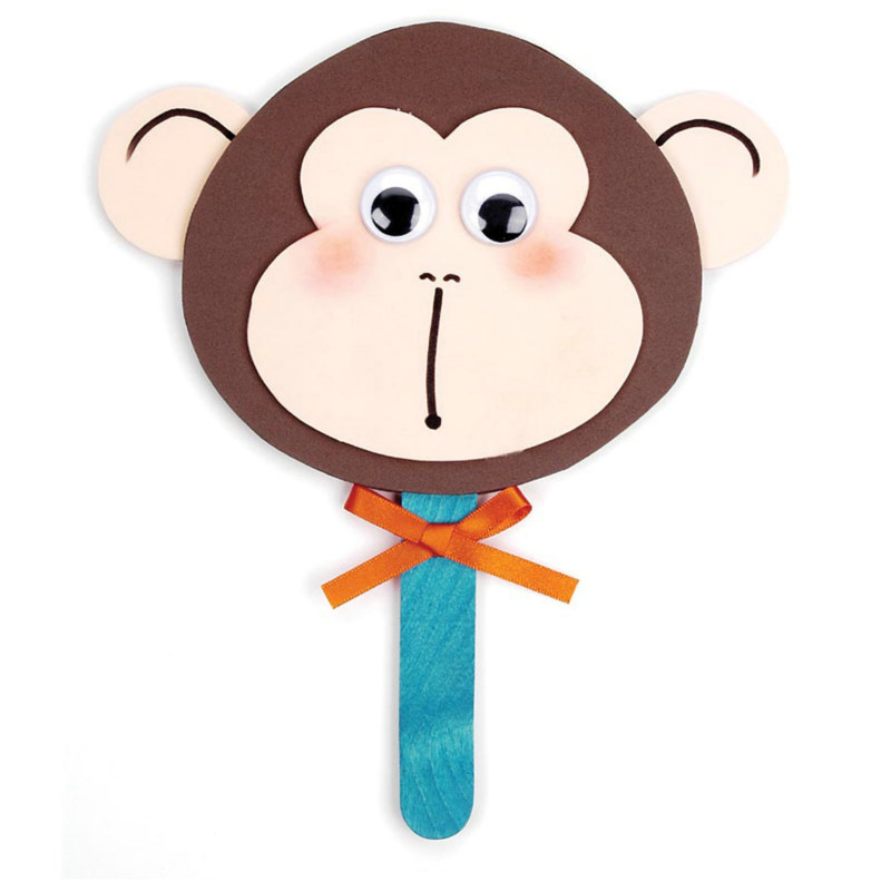 Foam Monkey Face Activity Kit - Click Image to Close