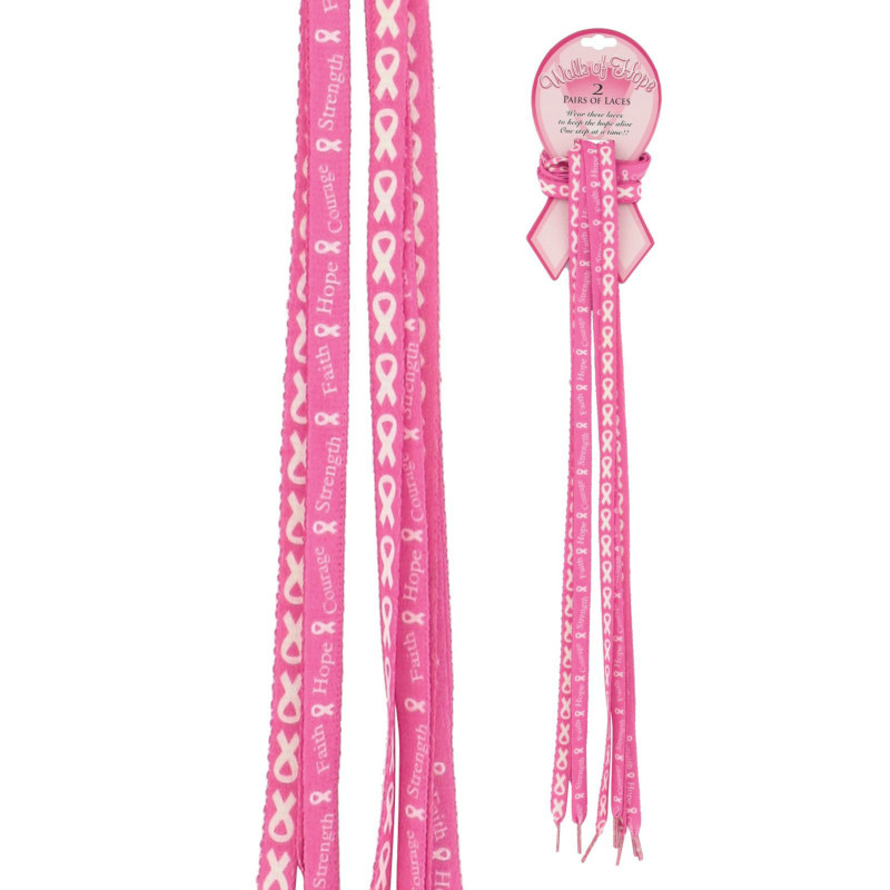 Breast Cancer Awareness Shoe Laces (2 pair)