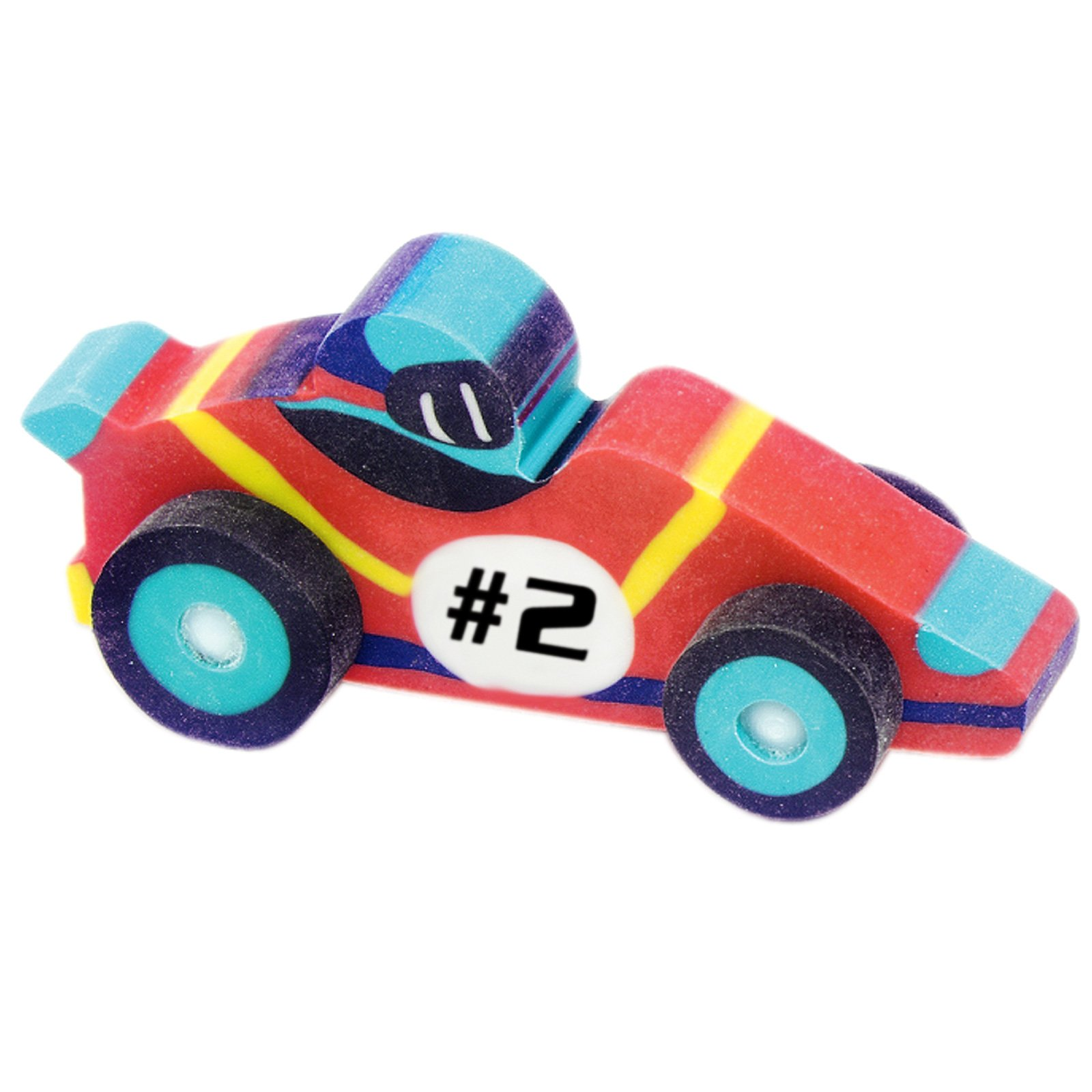 3-D Race Car Erasers Assorted (8 count)