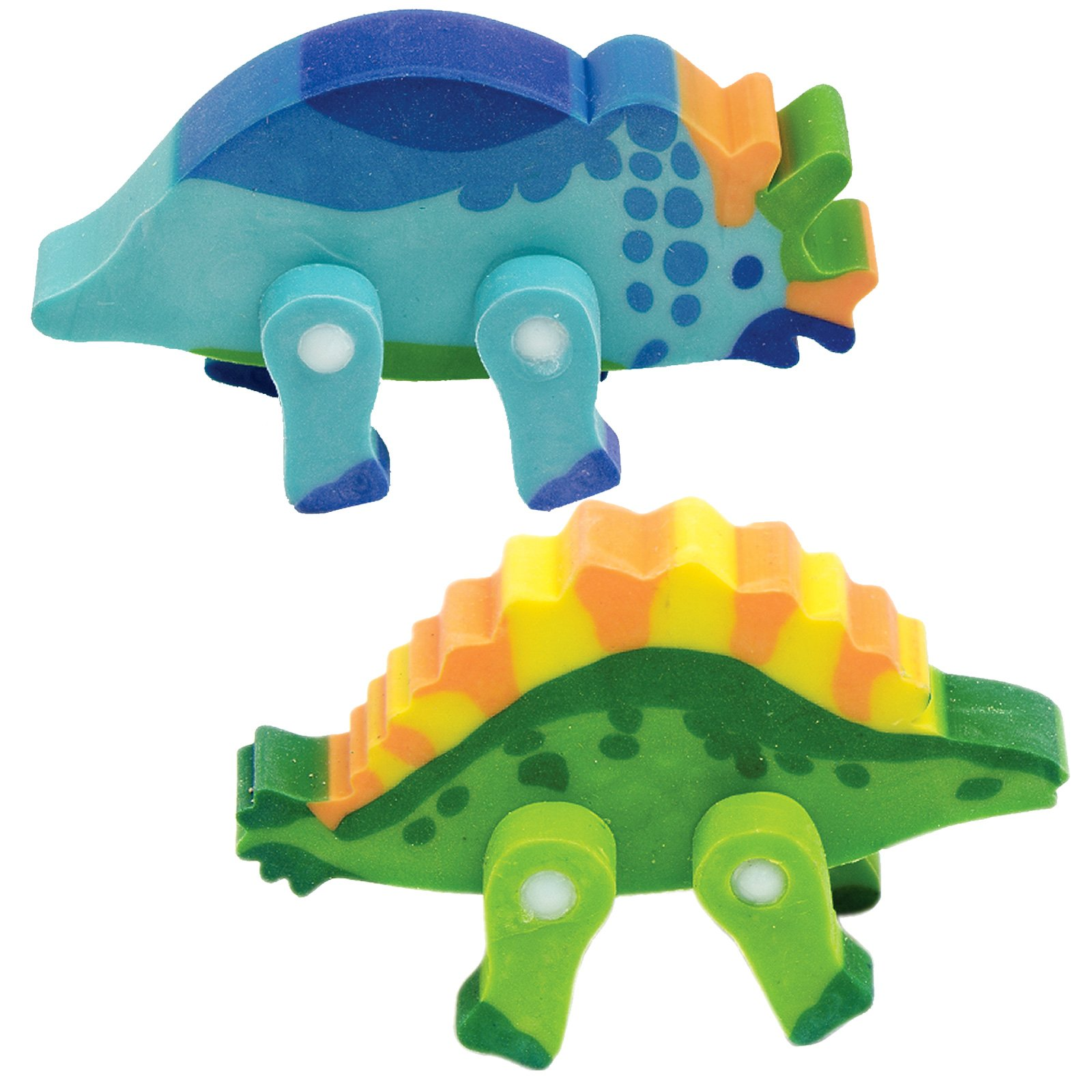 3-D Dinsoaur Erasers Assorted (8 count)