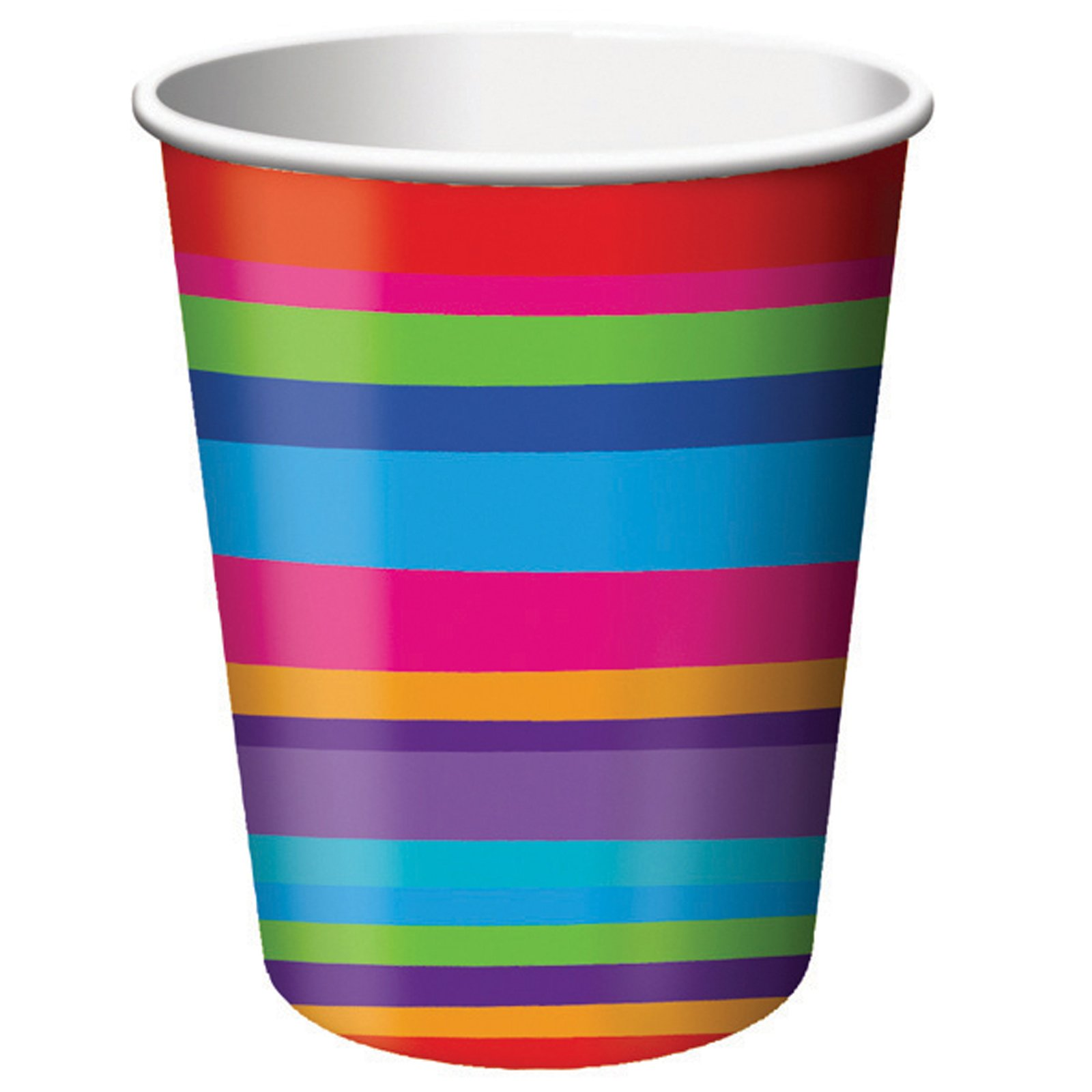 Birthday Stripes 9 oz. Cups (8 count)
