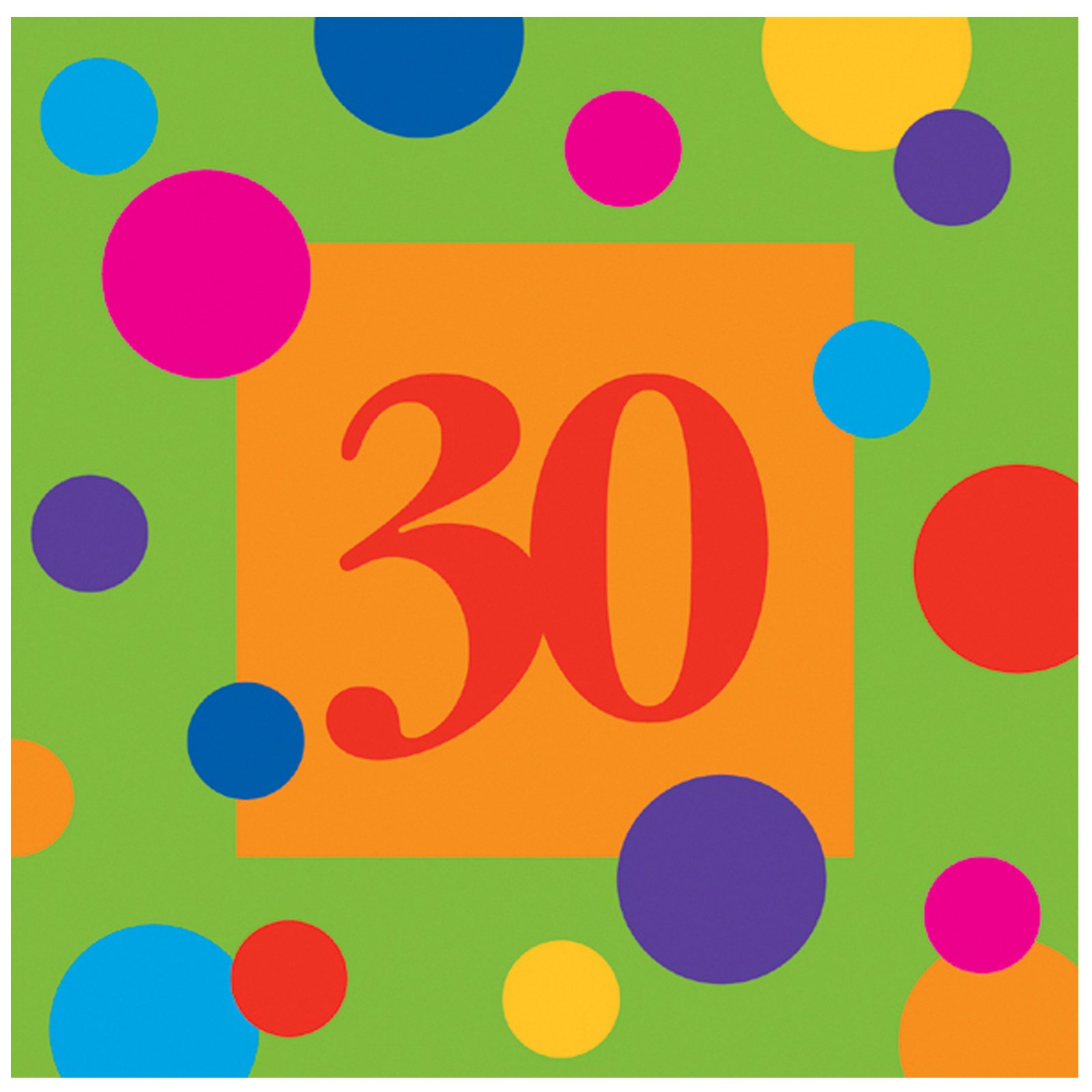 Birthday Stripes 30 Lunch Napkins (16 count)